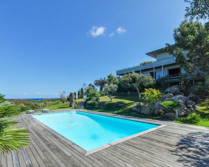 Bonifacio, Domaine de Sperone, à Bonifacio, villa 4 rooms, pool and seaview, Villa Le Golfe RL215