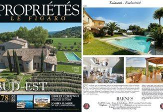 Barnes Corse presente 2 villas de prestige dans le magasine Propriétés du Figaro
