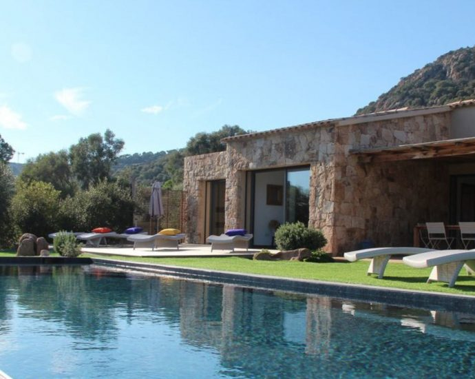 Porto vecchio, Palombaggia, Villa 3 chambres, piscine et proche plage, Villa Les Prairies RL243