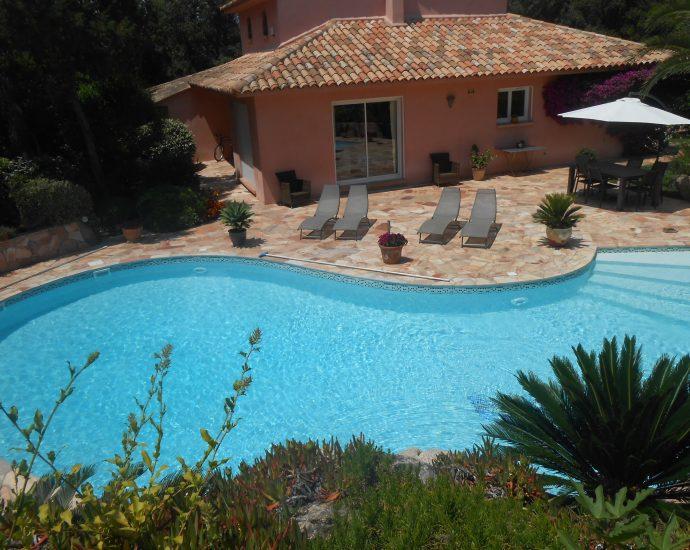 Porto Vecchio, Domaine de Cala Rossa, villa Les Cycas, 3 chambres, piscine, proche plage, RL24