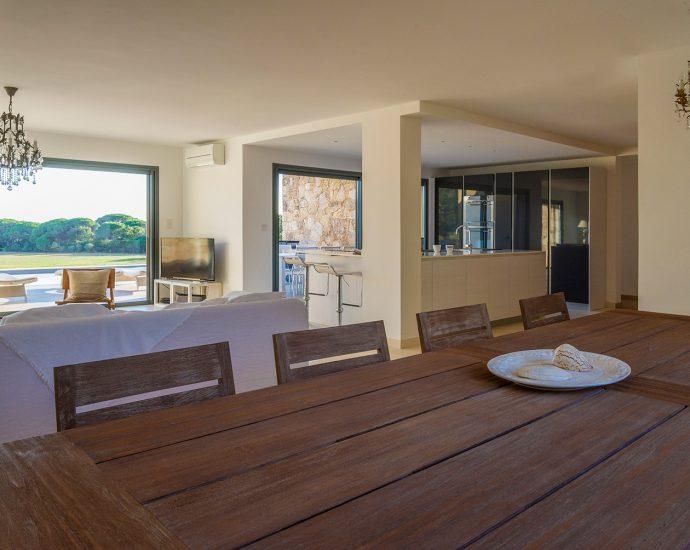 Palombaggia, villa 3 chambres, plage à pieds, vue mer, RL272 Pratulina