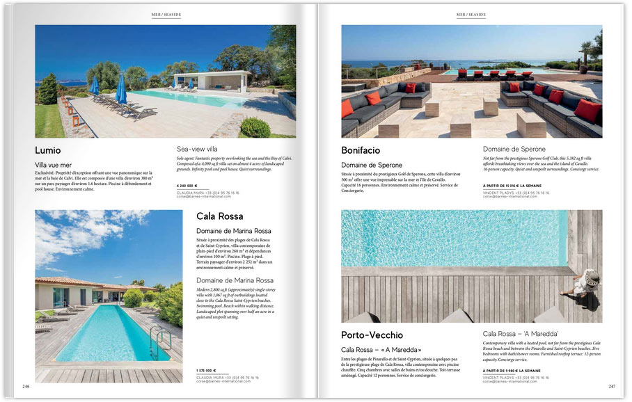 Une sélection de villas de prestige en Cosre